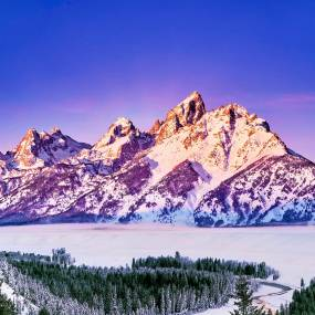 Winter Sunrise In The Tetons