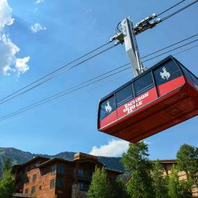 teton village aerial tram in summer