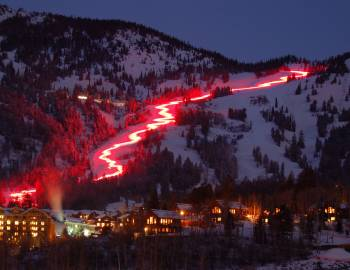 jackson hole torchlight parade