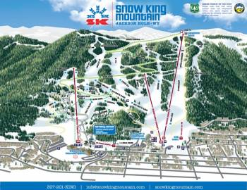 Snow King Mountain Winter Trail Map