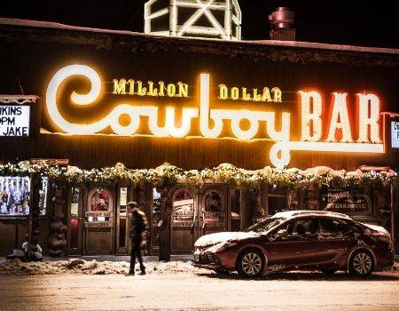 Million Dollar Cowboy Bar sign