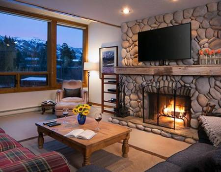 fireplace jackson hole rental