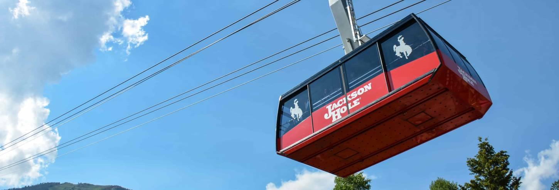 teton village aerial tram in summer