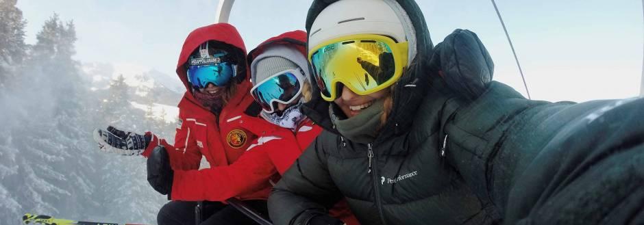 Family Selfie On Ski Lift
