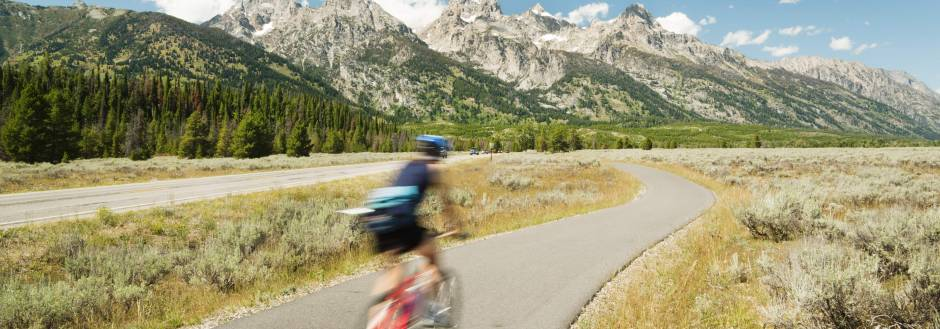 road biking in grand teton