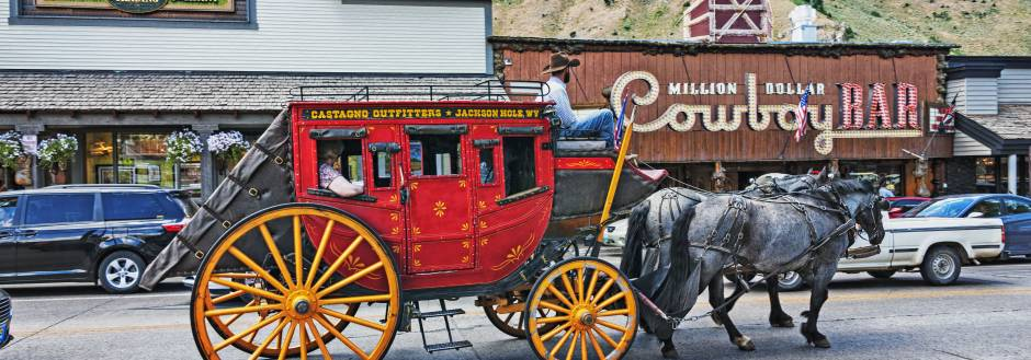 Jackson Hole Cowboy Bar Horse and Carriage