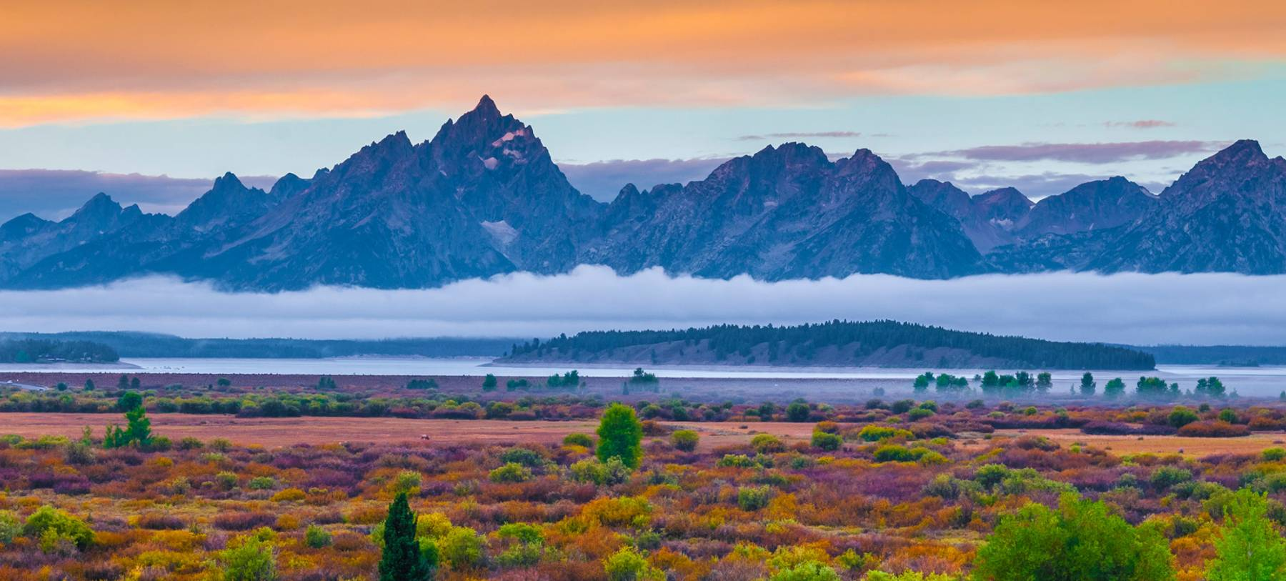 fog across the tetons outside jackson hole