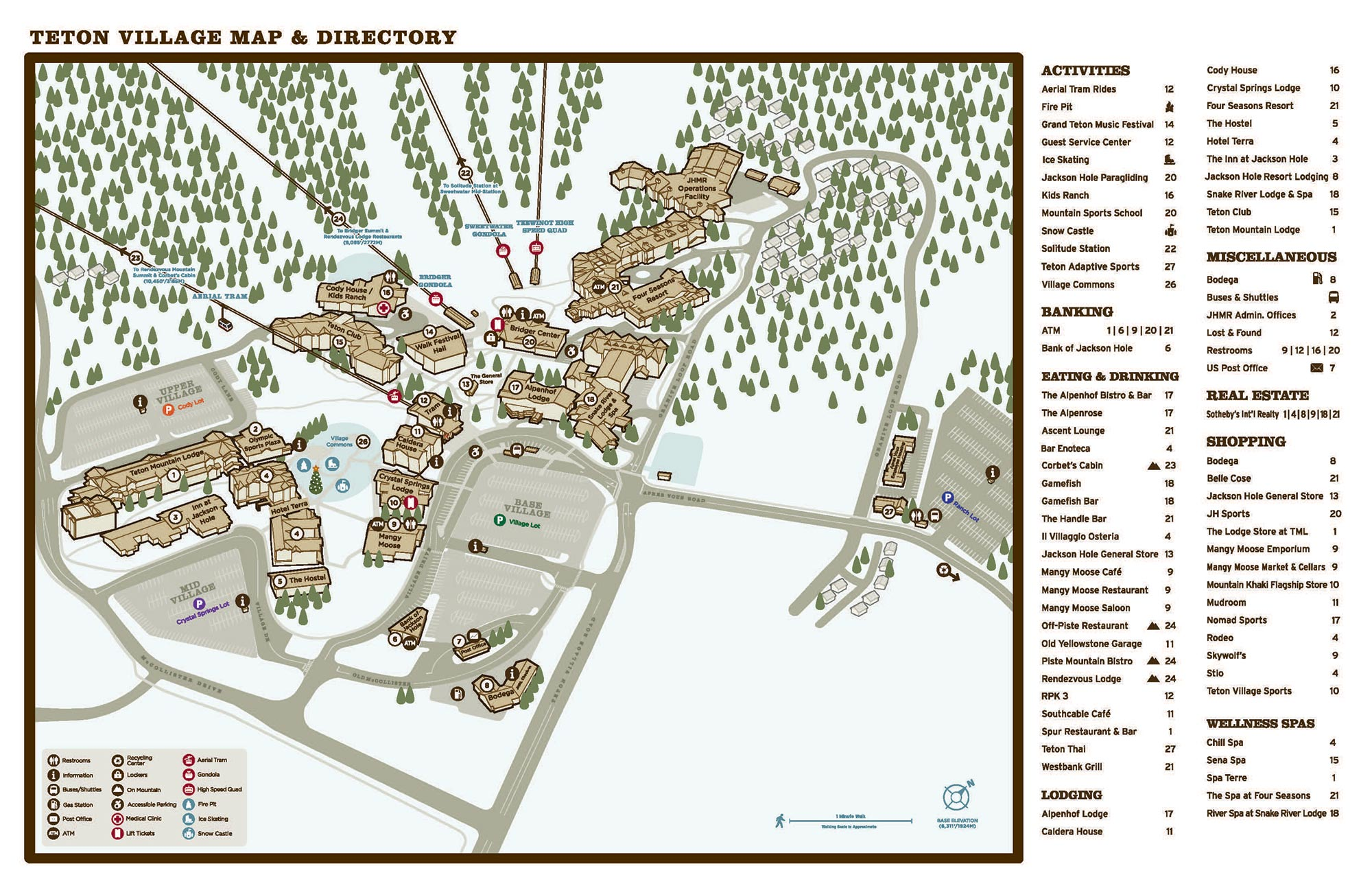 Teton Village Map - Winter