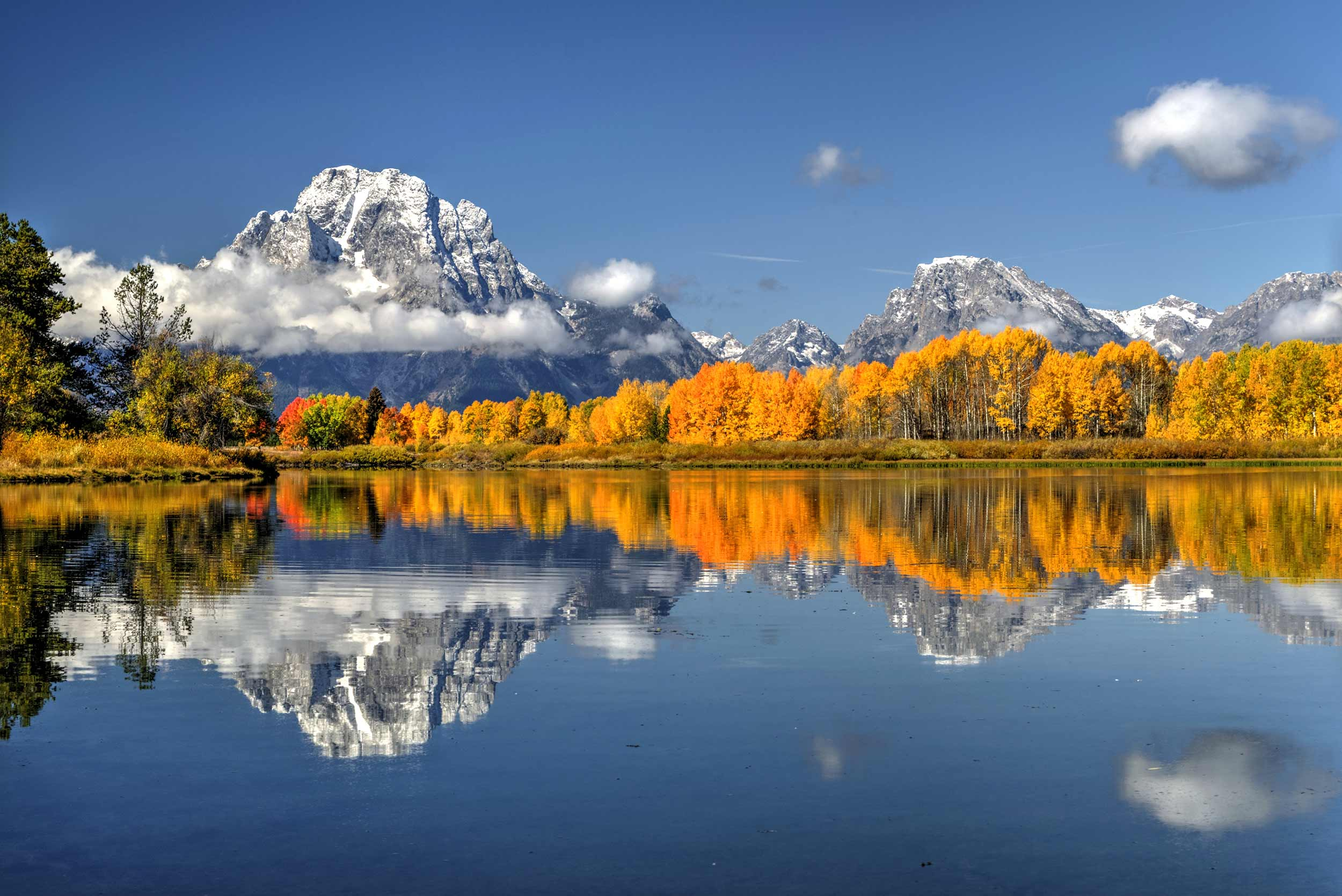 Oxbow Bend & Grand Tetons In Autumn
