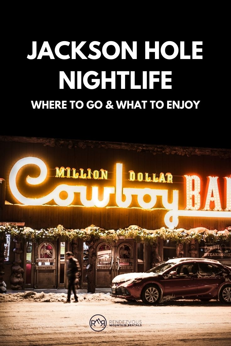Front view of the Million Dollar Cowboy Bar in Jackson Hole