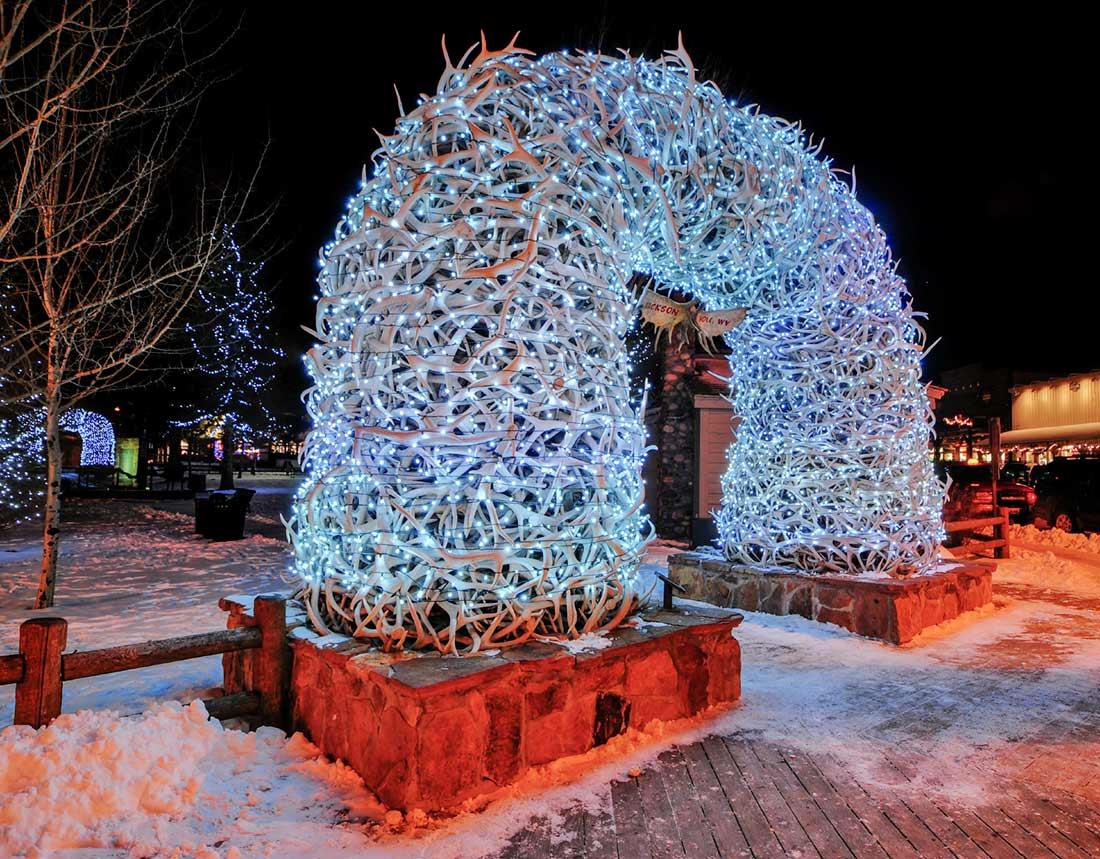 jackson hole town square lights