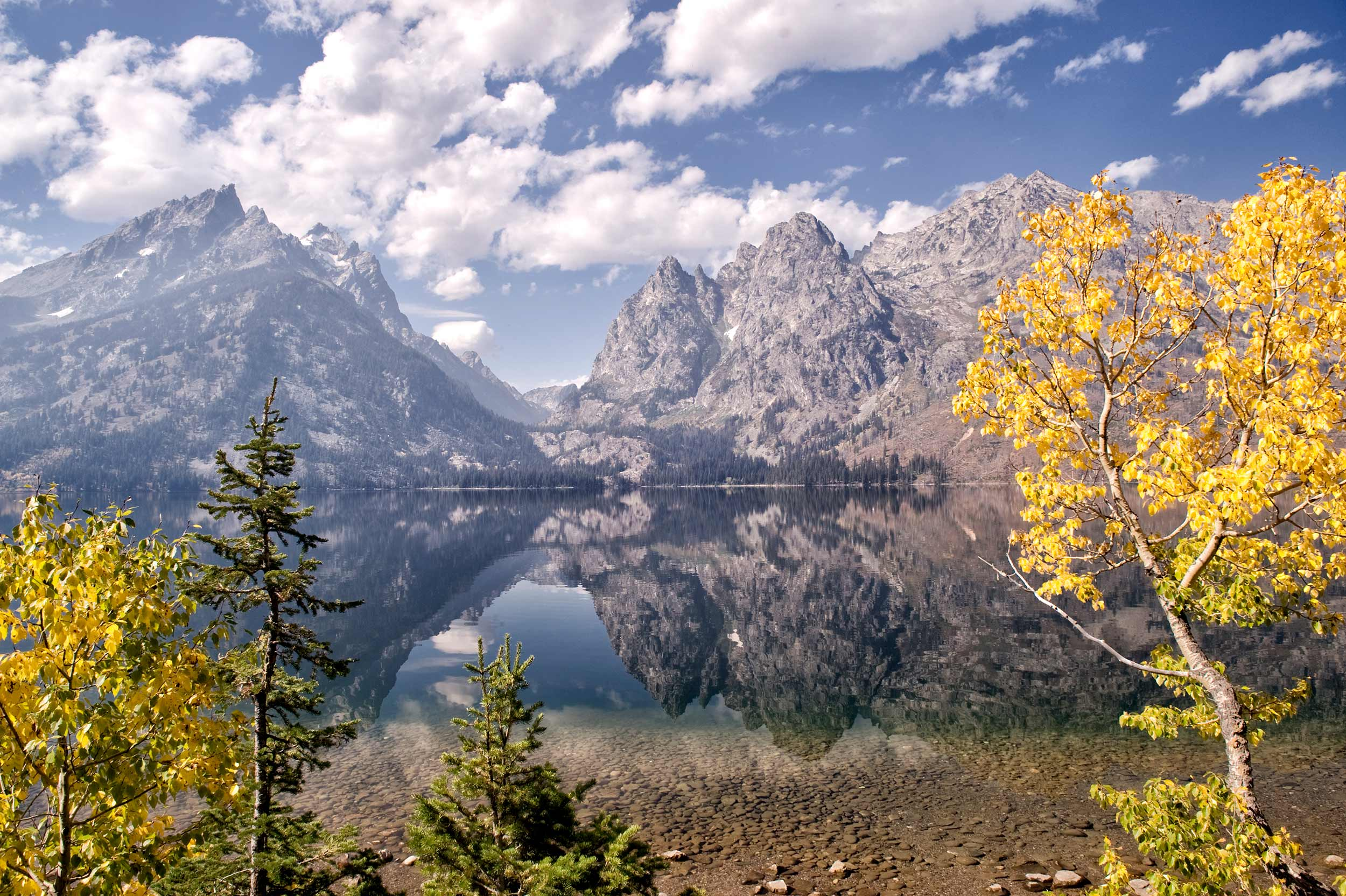 jenny lake in fall