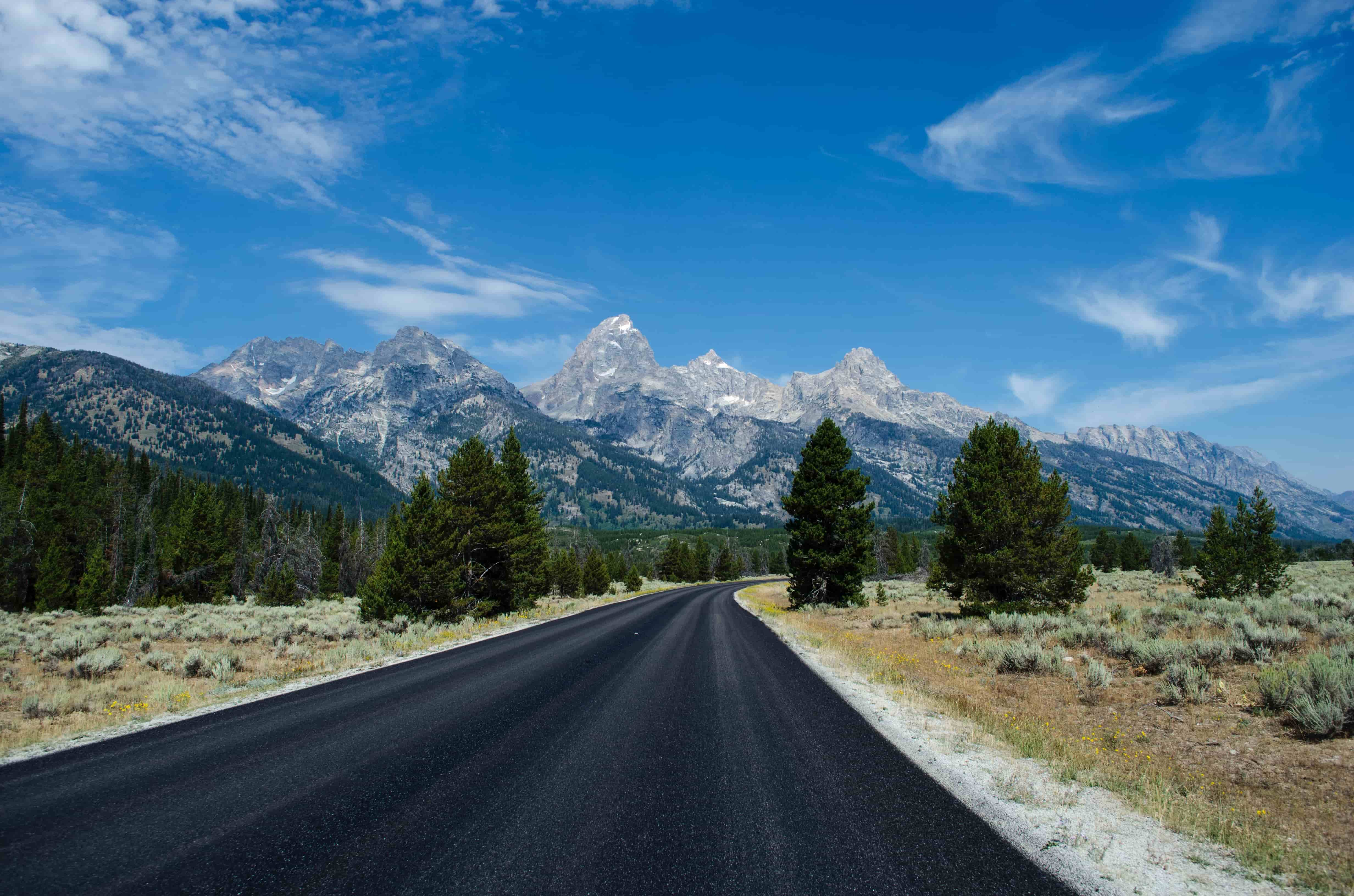 road to grand teton national park wyoming