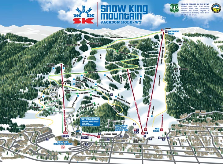 snow king trail map