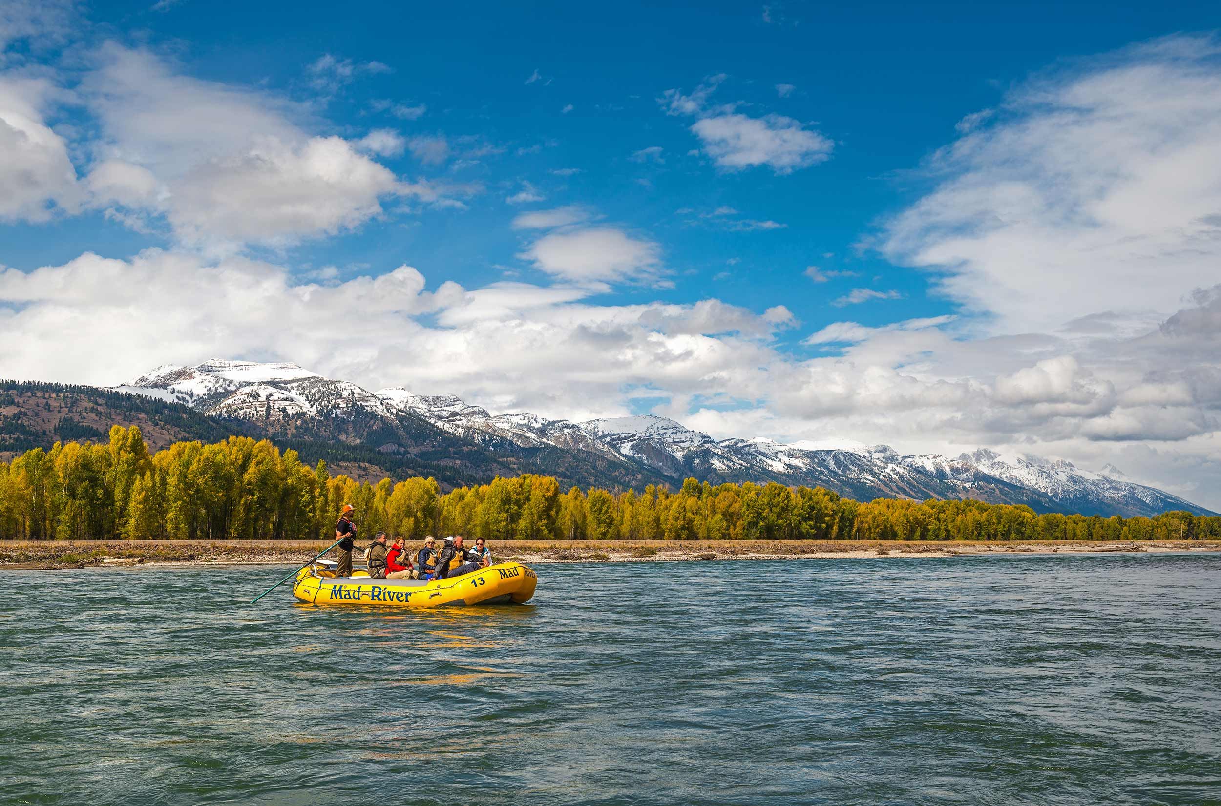 Snake River Rafting Scenic Float Fall Autumn