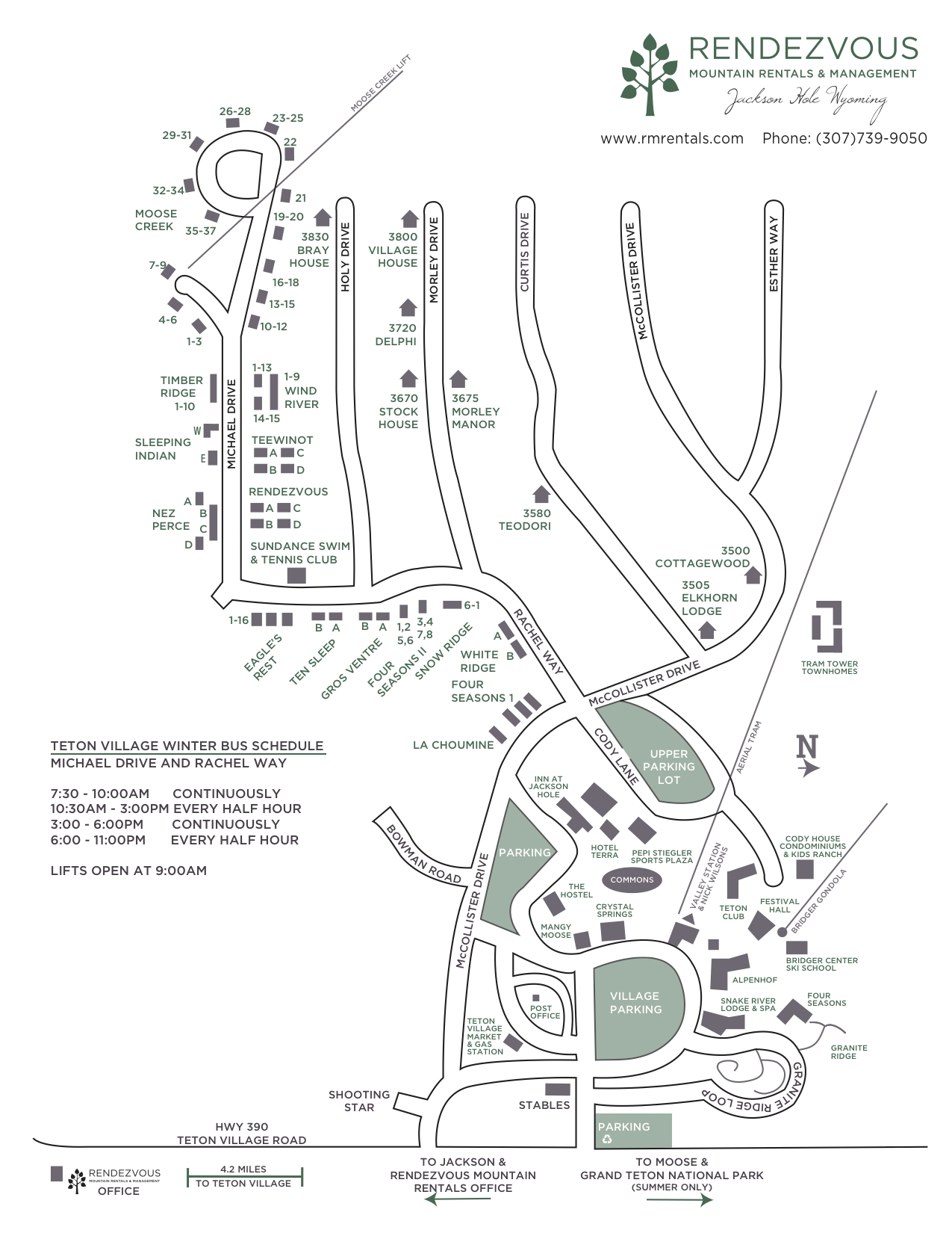 teton village map